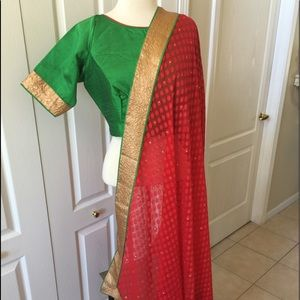 Sari Saree Blouse stitched 40 42 red